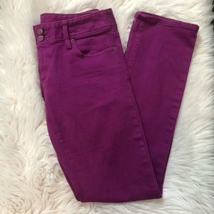 Lilly Pulitzer Purple Worth Straight Jeans